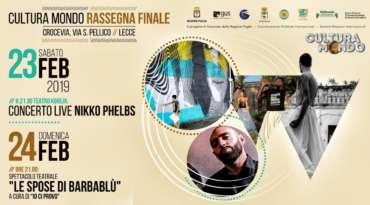 Cultura Mondo, sabato 23 febbraio al Crocevia di Lecce la rassegna finale tra Hip Hop, Teatro e Street Art